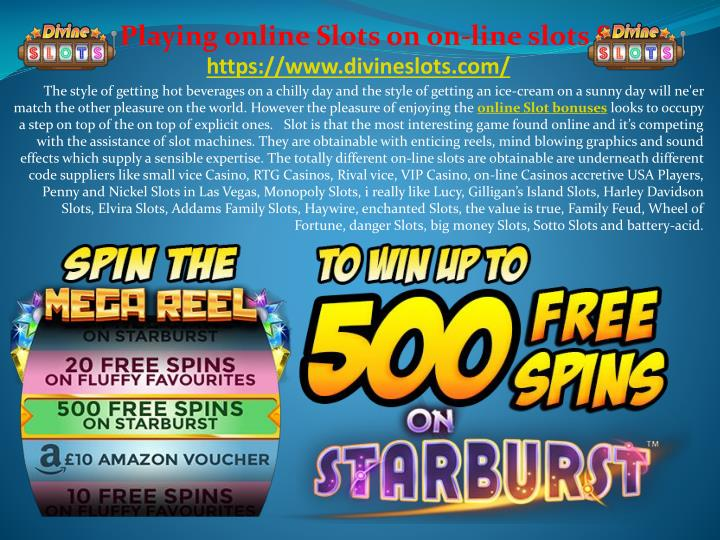 playing online slots on on line slots sites n.