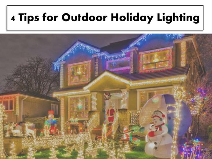 4 tips for outdoor holiday lighting n.