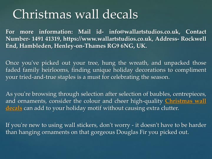 christmas wall decals n.