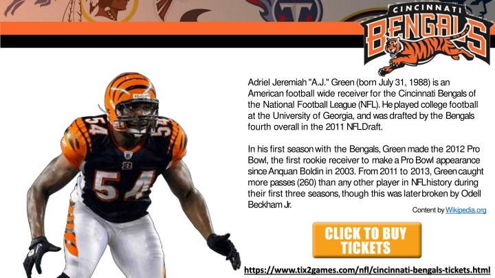 PPT - Discount Cincinnati Bengals Tickets PowerPoint Presentation ... 5b4c3600c