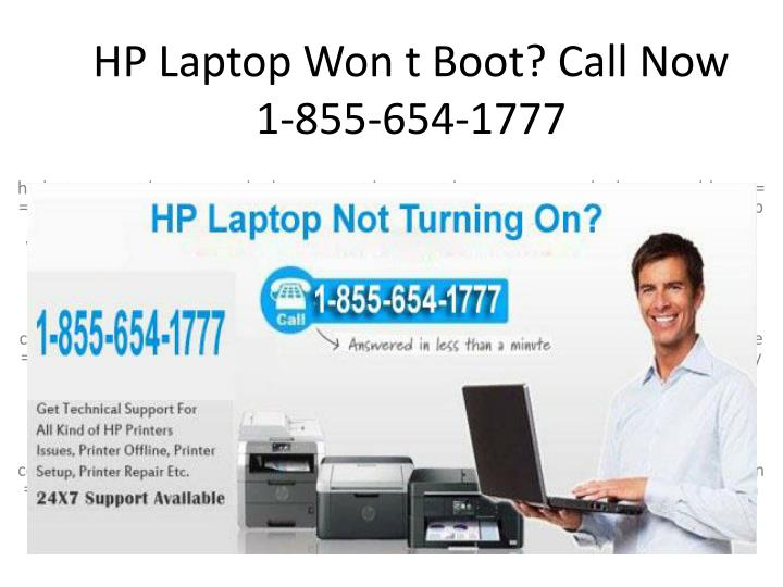 hp laptop won t boot call now 1 855 654 1777 n.