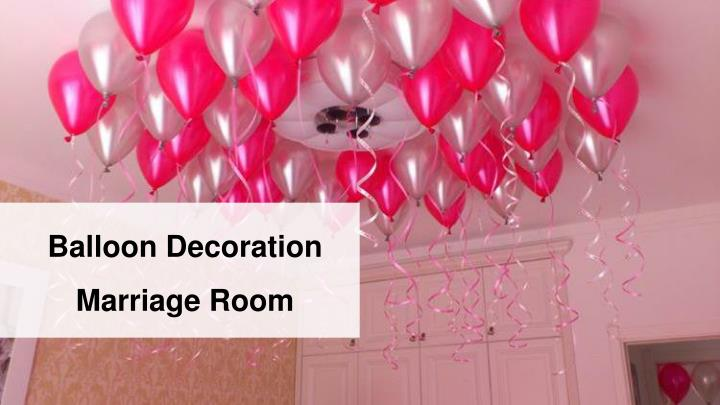 Balloon Decoration Marriage Room
