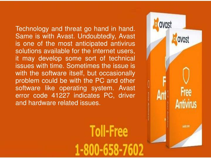 PPT - How to fix Avast Error Code 41227 Call 1-800-658-7602