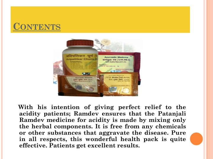 PPT - Ramdev Medicines – The Right Answer To Acidity PowerPoint