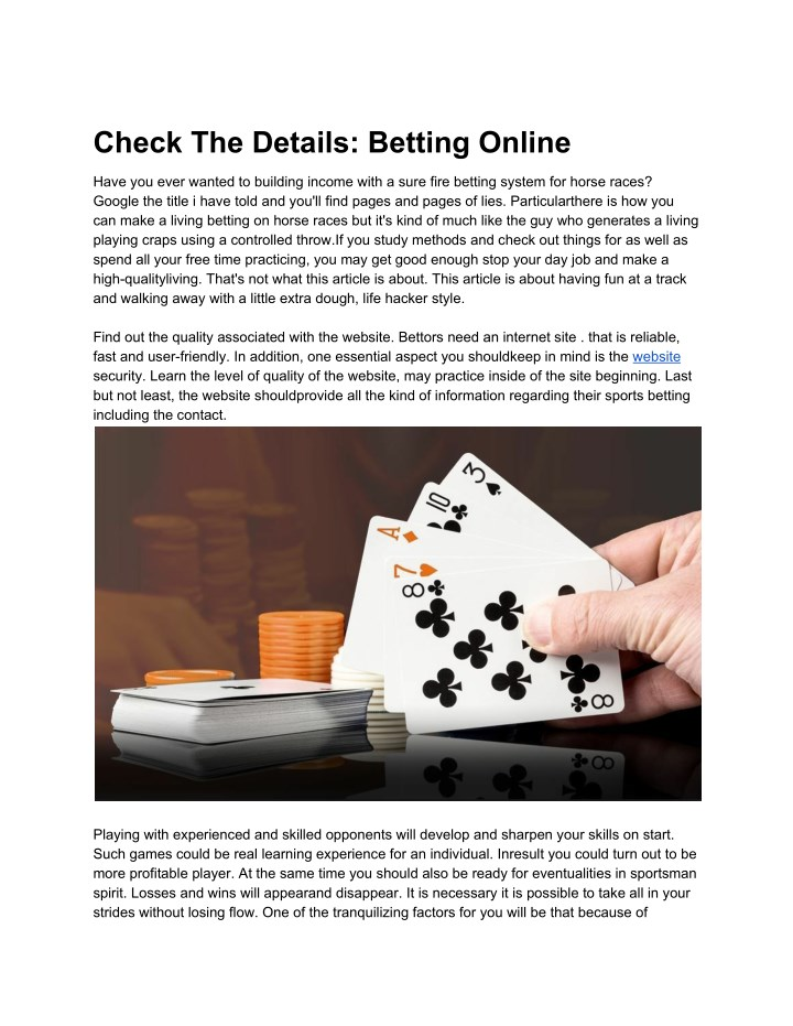 check the details betting online n.