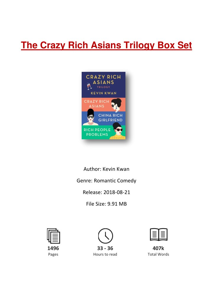 crazy rich asians pdf