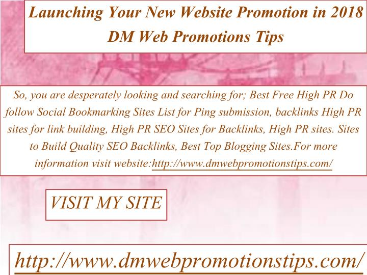 PPT - Launching Your New Website Promotion in 2018 | DM Web