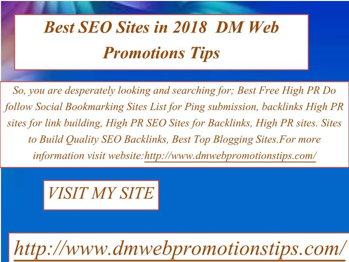 PPT - New Website Promotion | DM Web Promotions Tips PowerPoint