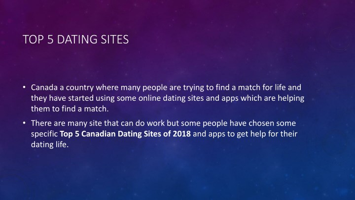 best online dating sites canada 2018