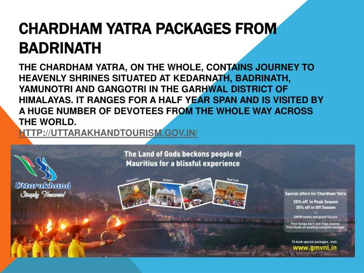 chardham yatra packages from badrinath n.