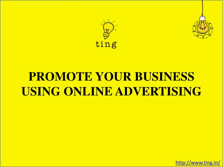 promote your business using online advertising n.