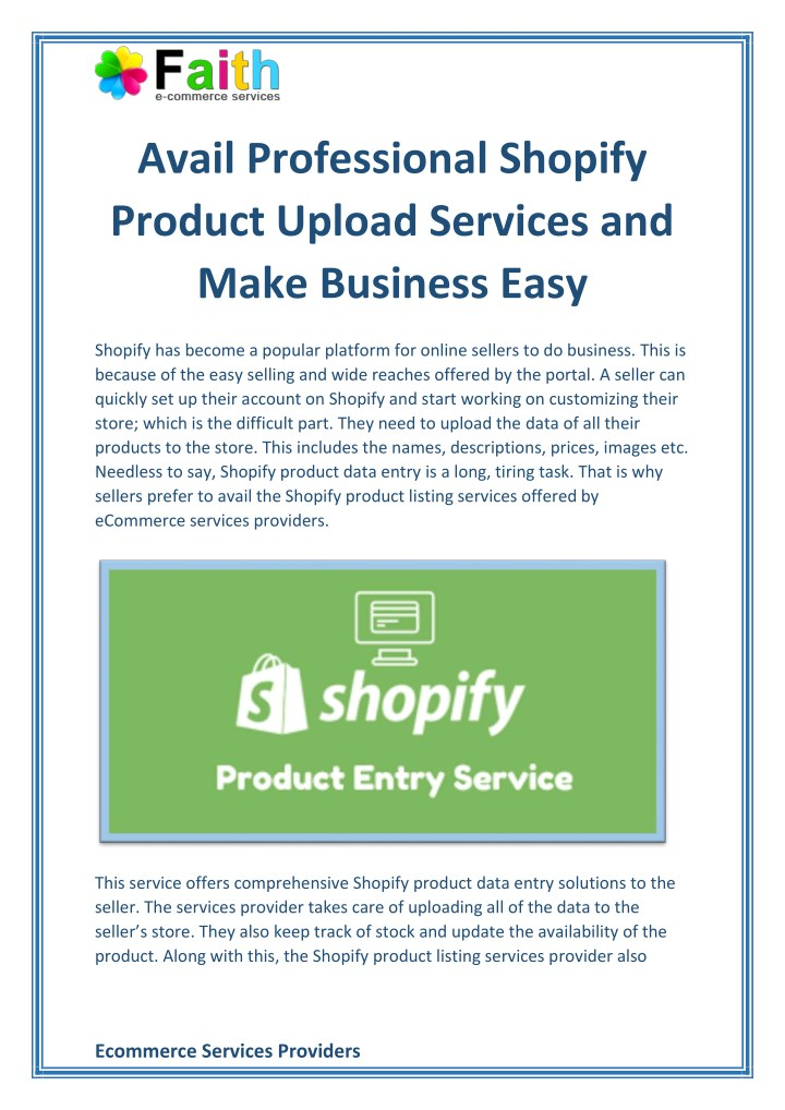 avail professional shopify product upload n.