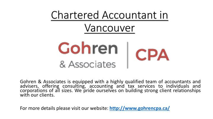 chartered accountant in vancouver n.