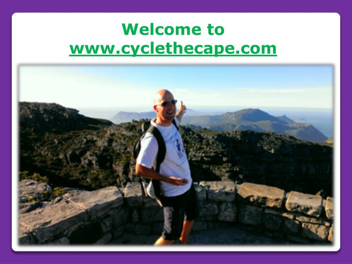 welcome to www cyclethecape com n.