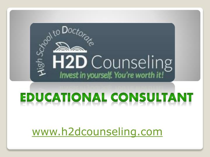 educational consultant n.