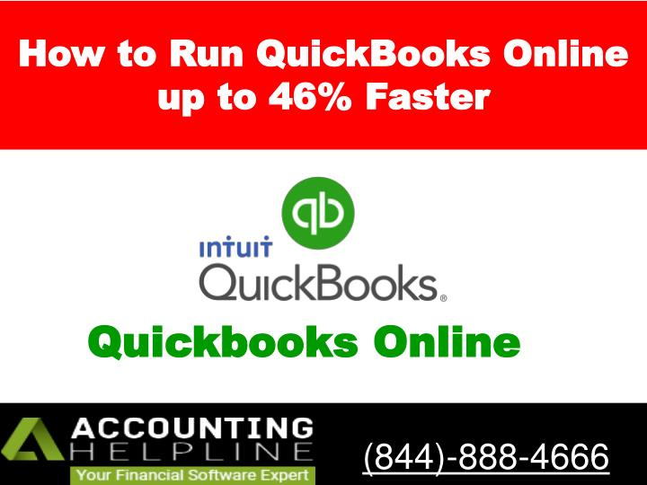 how to run quickbooks online up to 46 faster n.