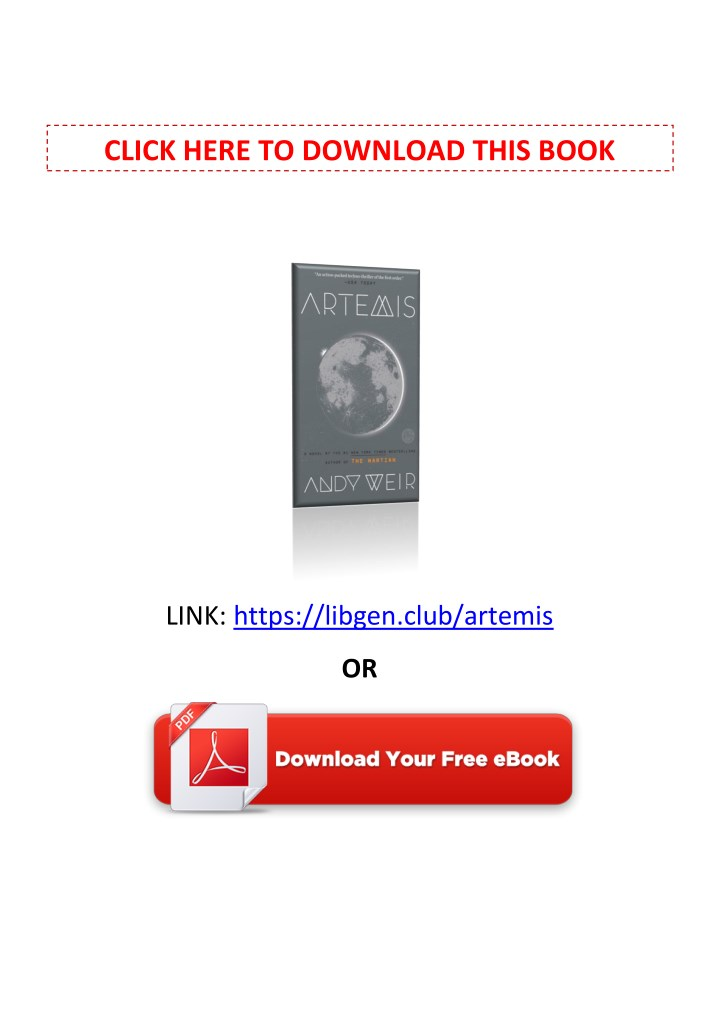 PPT - [PDF] Free Download Artemis By Andy Weir PowerPoint