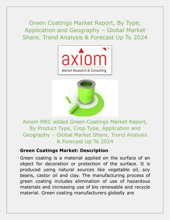 green coatings market report by type application n.