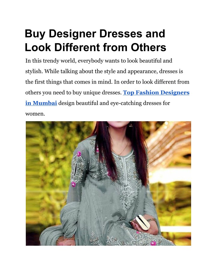 buy designer dresses and look different from n.