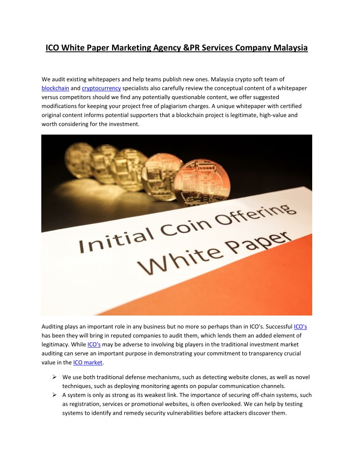 ico white paper marketing agency pr services n.