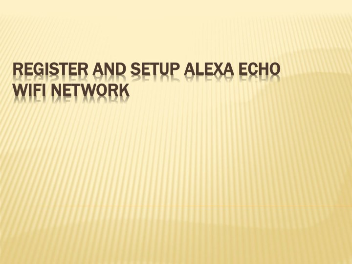 register and setup register and setup alexa wifi n.