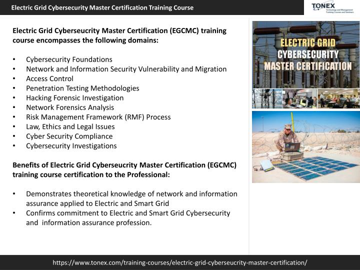 PPT - Electric Grid Cybersecurity Master Certification