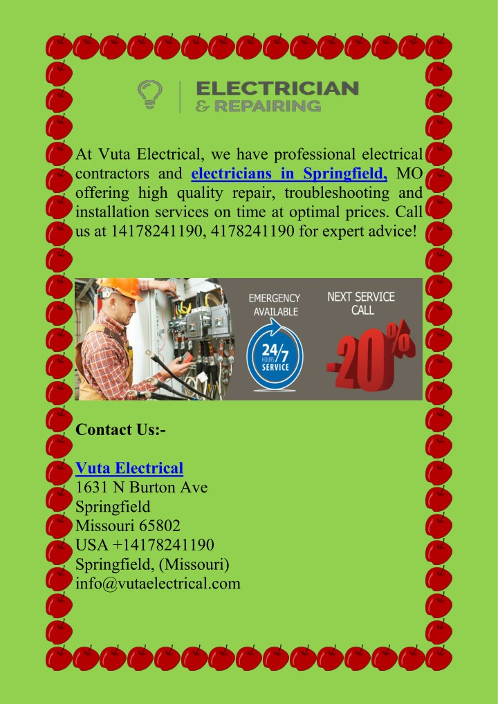 at vuta electrical we have professional n.