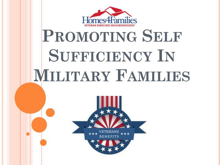 promoting self sufficiency in military families n.