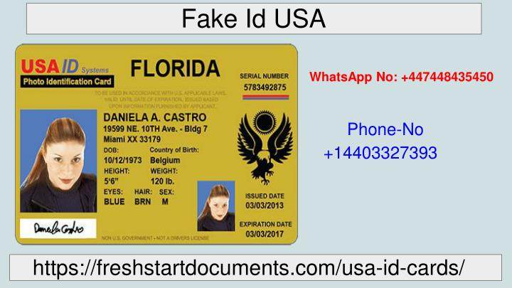 PPT - Get Real and Fake USA ID at affordable Price | Freshstart