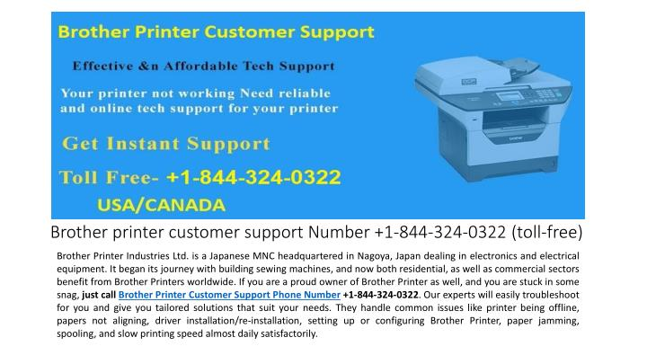 brother printer customer support number 1 844 324 0322 toll free n.