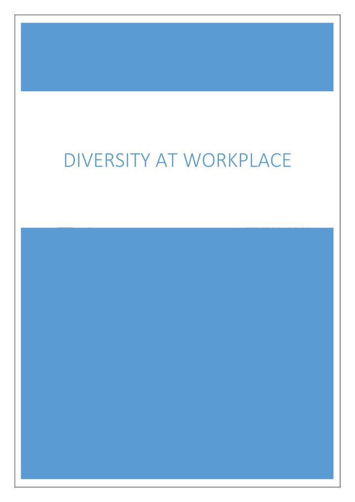diversity at workplace n.
