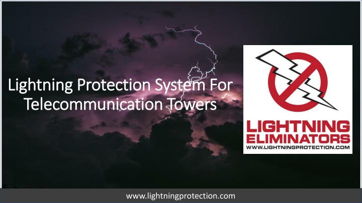 lightning protection system for telecommunication towers n.