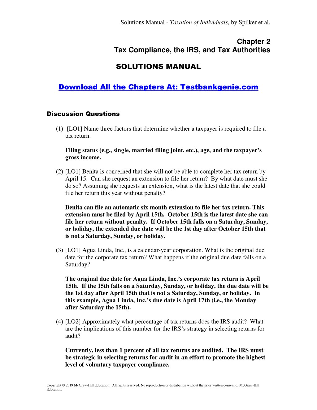 solutions manual taxation of individuals n.