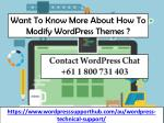 want to know more about how to modify wordpress