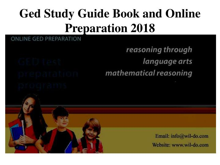 ged study guide book and online preparation 2018 n.