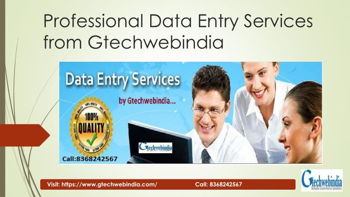 professional data entry services from gtechwebindia n.