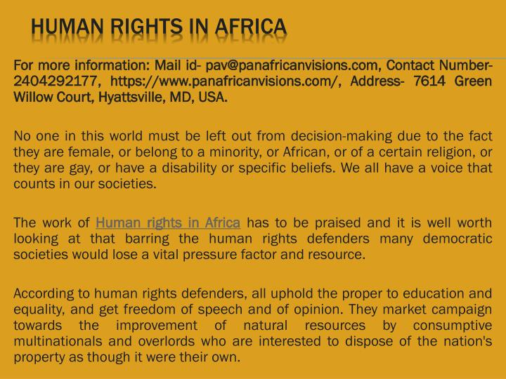 human rights in africa n.