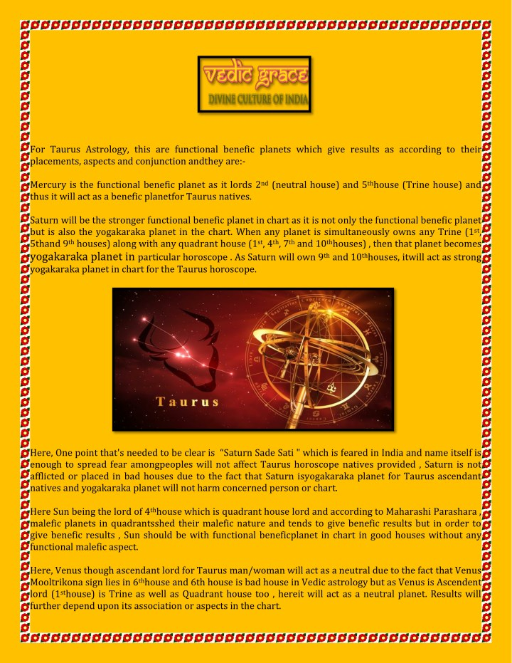 PPT - Taurus Horoscope Predictions Explained by Astrologer Vinayak