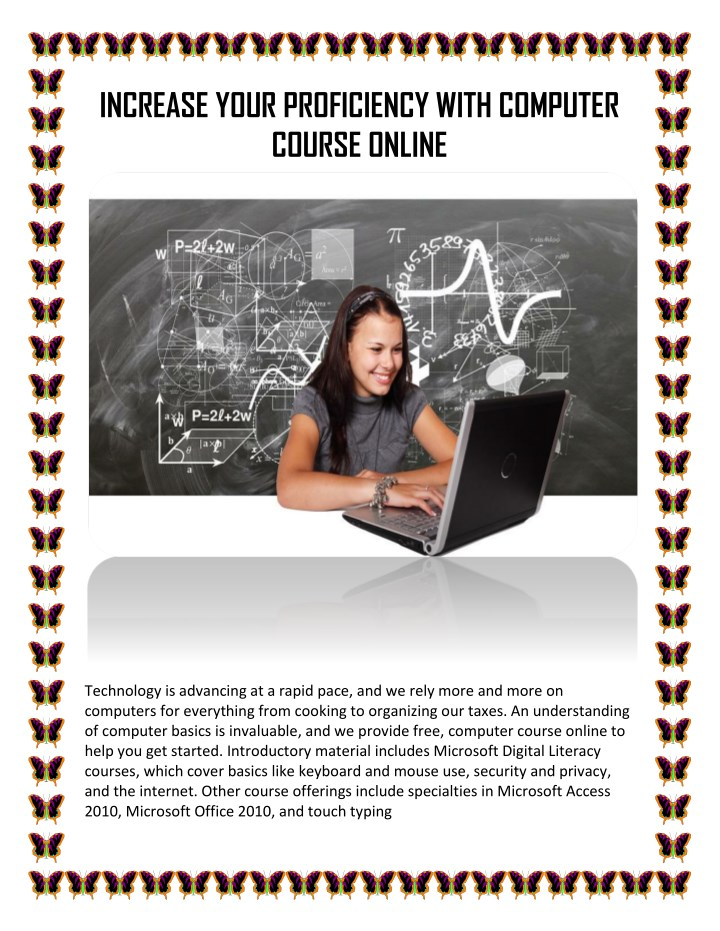increase your proficiency with computer course n.