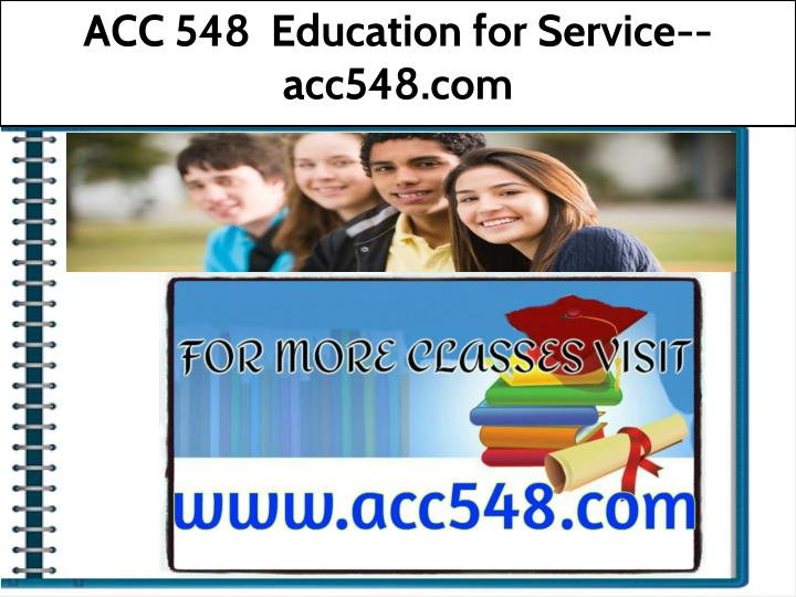 acc 548 education for service acc548 com n.