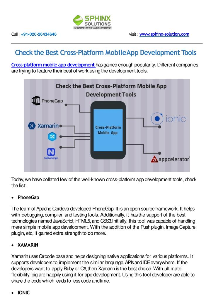 PPT - Check the Best Cross-Platform Mobile App Development Tools