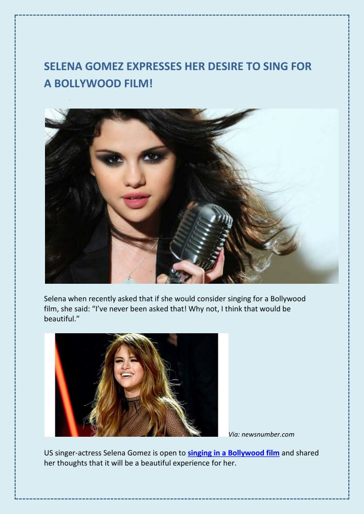 selena gomez expresses her desire to sing n.