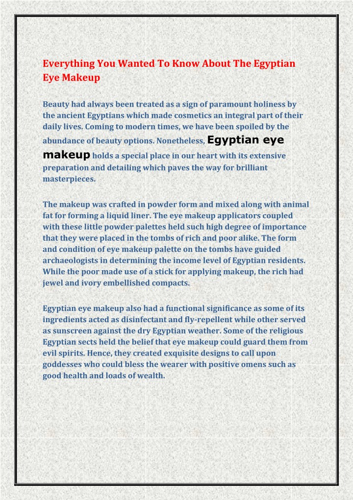everything you wanted to know about the egyptian n.
