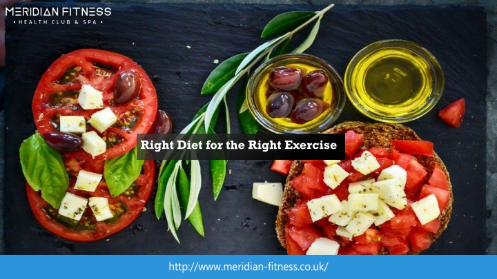 right diet for the right exercise n.