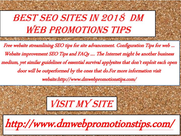 best seo sites in 2018 dm web promotions tips n.