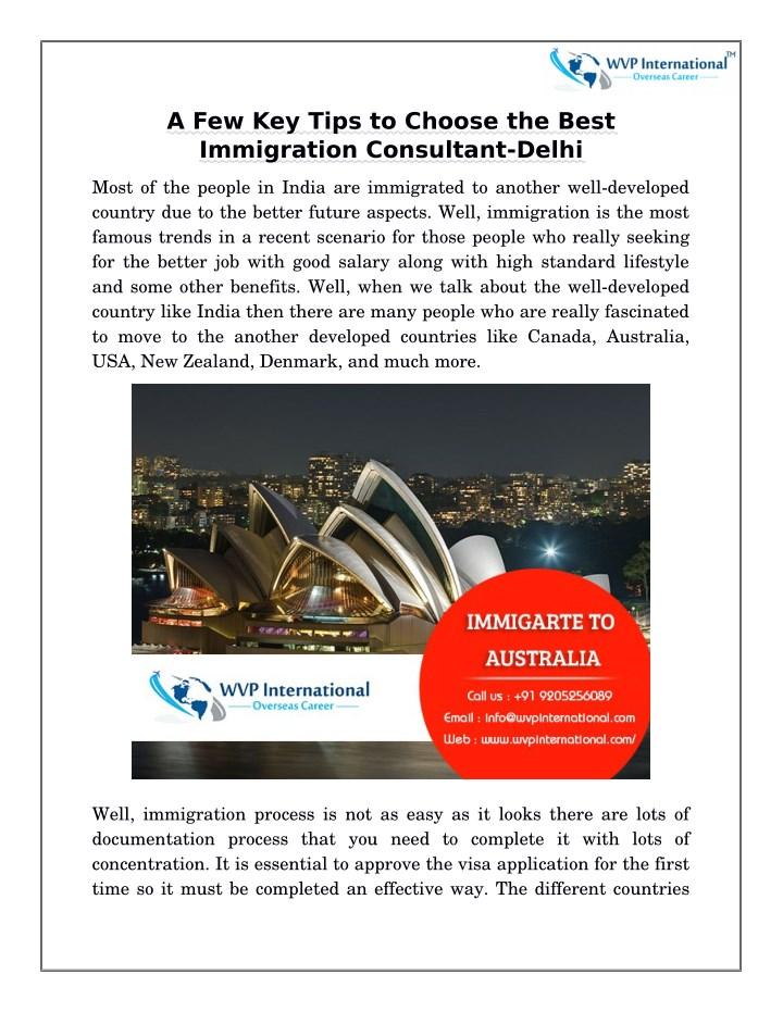 a few key tips to choose the best immigration n.