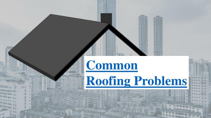 common roofing problems n.