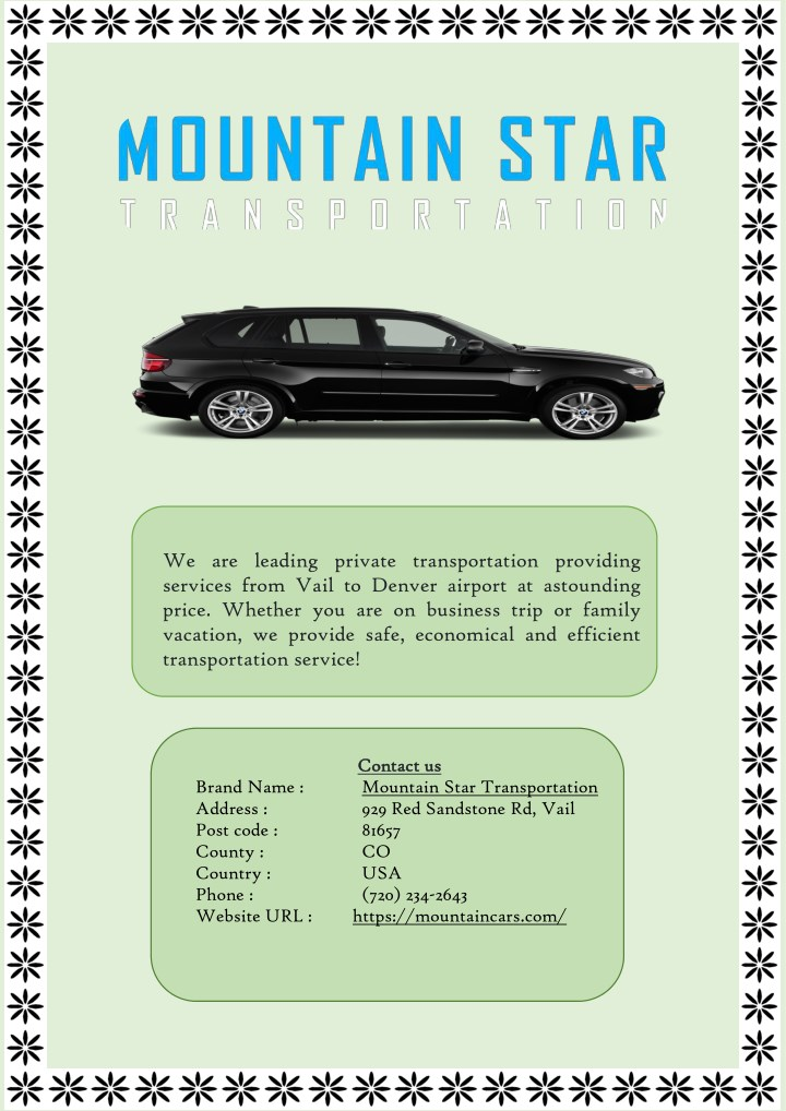 we are leading private transportation providing n.