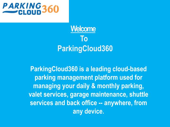 welcome to parkingcloud360 n.