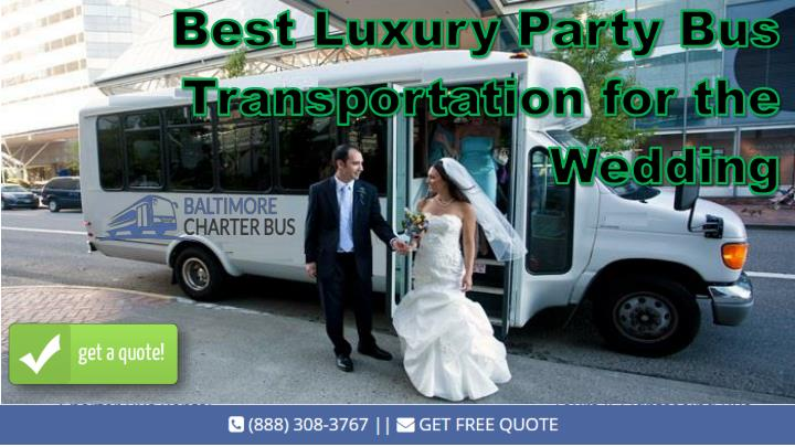 best luxury party bus transportation n.
